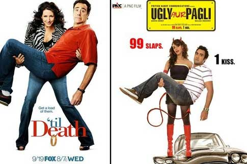Bollywood movie posters inspired from Hollywood Til Death / Ugly Aur Pagli