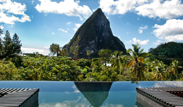 swim places spots pools 23. Hotel Chocolat, St. Lucia