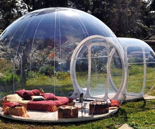 these amazingly ingenious accessories will make your backyard more awesome Bubble-camping-tent-640x533
