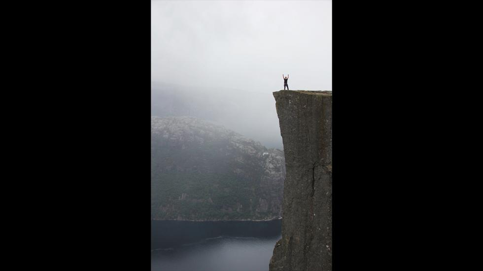 It's amazing out there awesome pictures Conquering Preikestolen