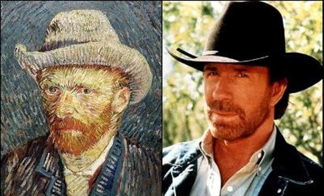 5. Chuck Norris and Vincent VanGogh.