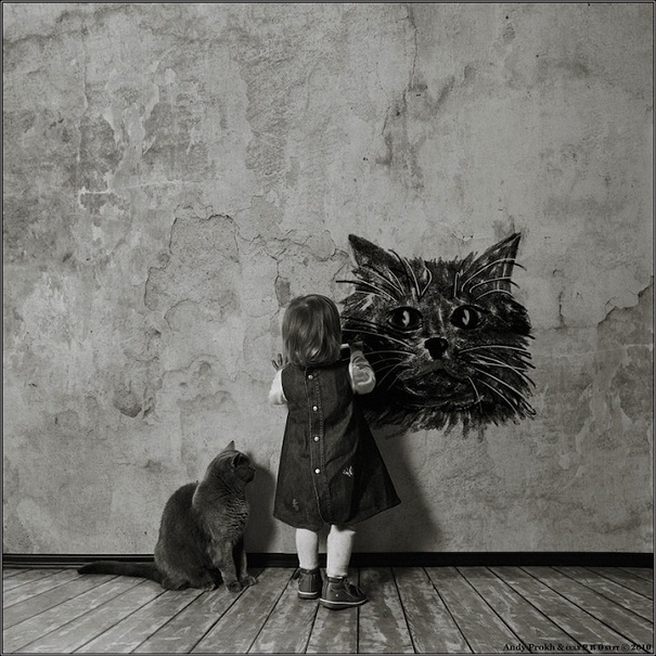 friendship-between-a-little-girl-and-a-cat