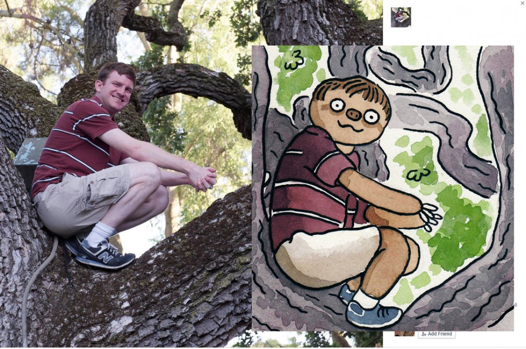 replacing 50 paintings of random people's facebook profile pictures with sloths
