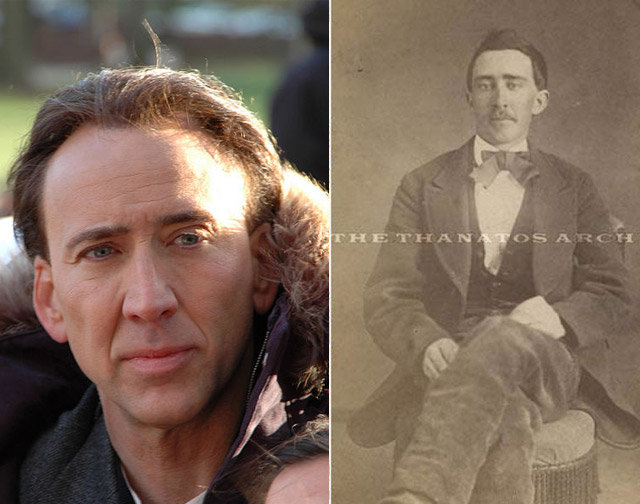 7. Nicholas Cage and a man from the Civil War era.