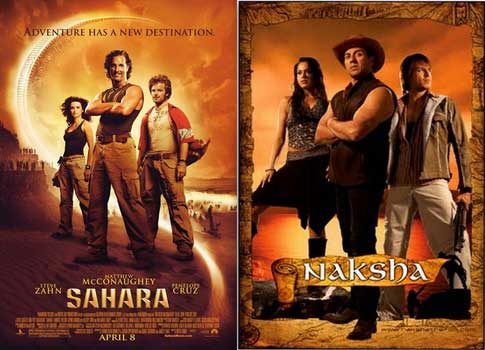 Bollywood movie posters inspired from Hollywood Sahara / Nakasba
