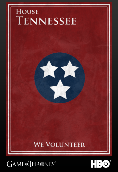 'Game of thrones' fans State Sigils HBO's website Tennessee