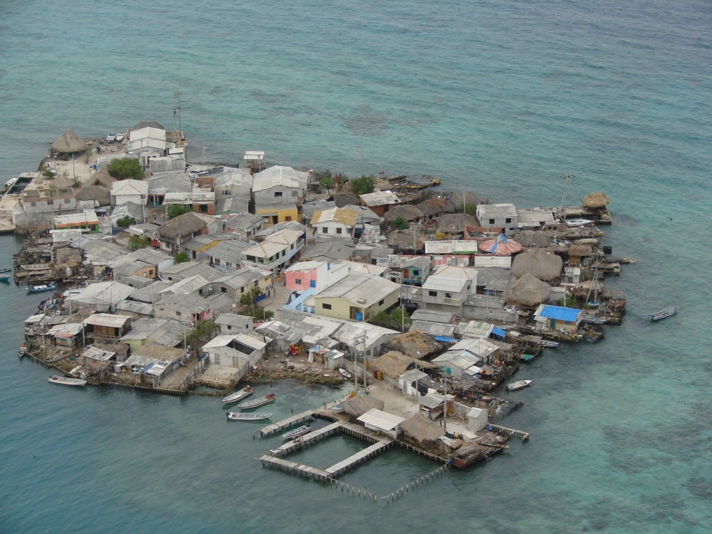 most densely populated places on Earth  Santa Cruz del Islote, Island, Colombia
