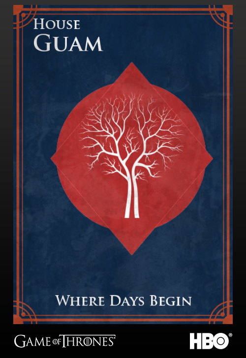 'Game of thrones' fans State Sigils HBO's website Guam