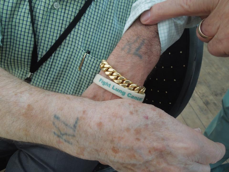 a holocaust survivor same tattoo after almost 70 years
