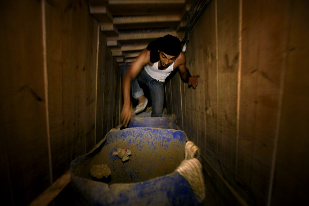 smuggling tunnels in the Israel-Gaza border