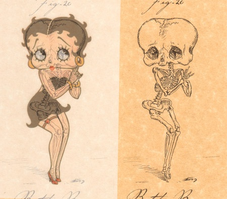 cartoon skeletons cartoon skeletons Betty Boop