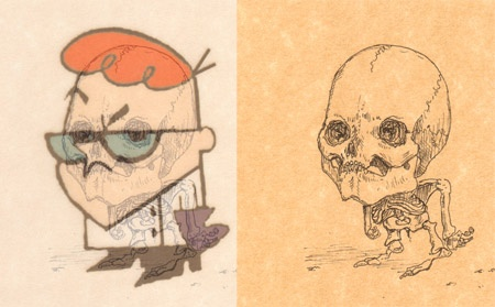 cartoon skeletons cartoon skeletons Dexter