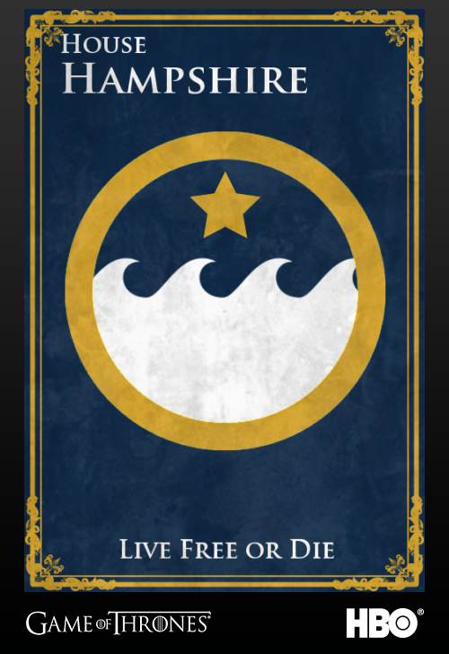 'Game of thrones' fans State Sigils HBO's website Hampshire