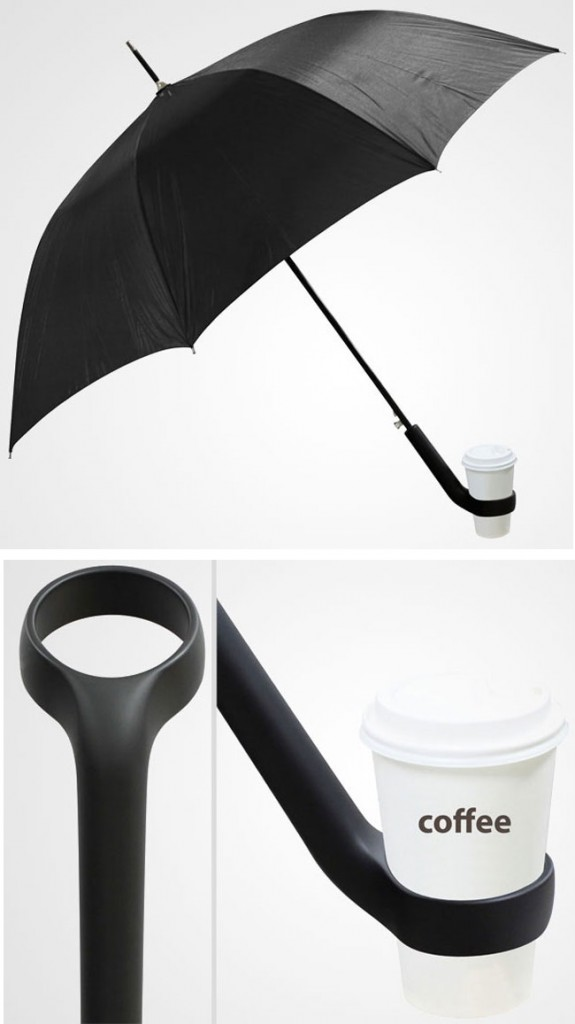 clever inventions that will make your life so much easier Cup Holder Umbrella