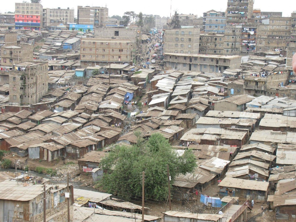 most densely populated places on Earth  Mathare slums, Nairobi, Kenya