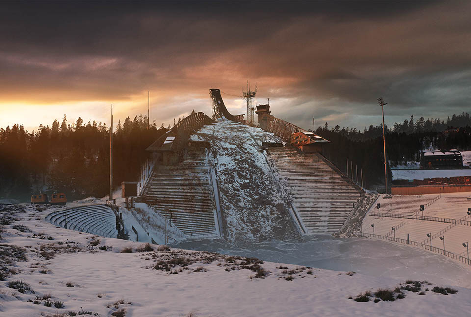 The last of us: apocalyptic pictures of the end of the world Holmenkollen, Norway