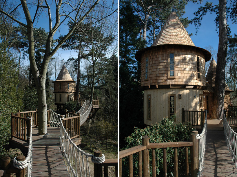 Seriously, I envy them! This family lives in a tree house that looks like a castle. And, it's even cooler in the inside!Blue Forest