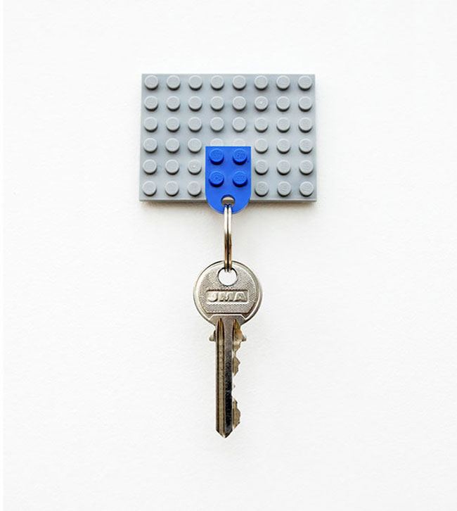clever inventions that will make your life so much easier Lego Key Holder