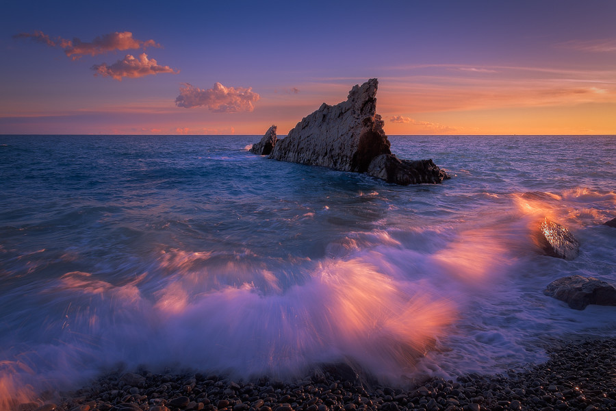 Photograph Sunset rocks by Giovanni Allievi on 500px