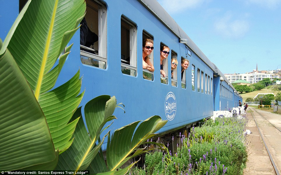A gorgeous vintage train was turned into a hotel on South Africa's Garden Route