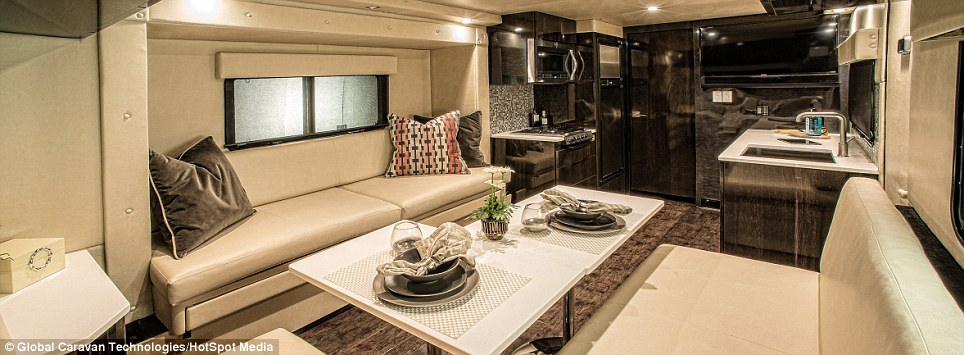 First all carbon fiber luxury RV styled on Formula 1 cars and Ferraris