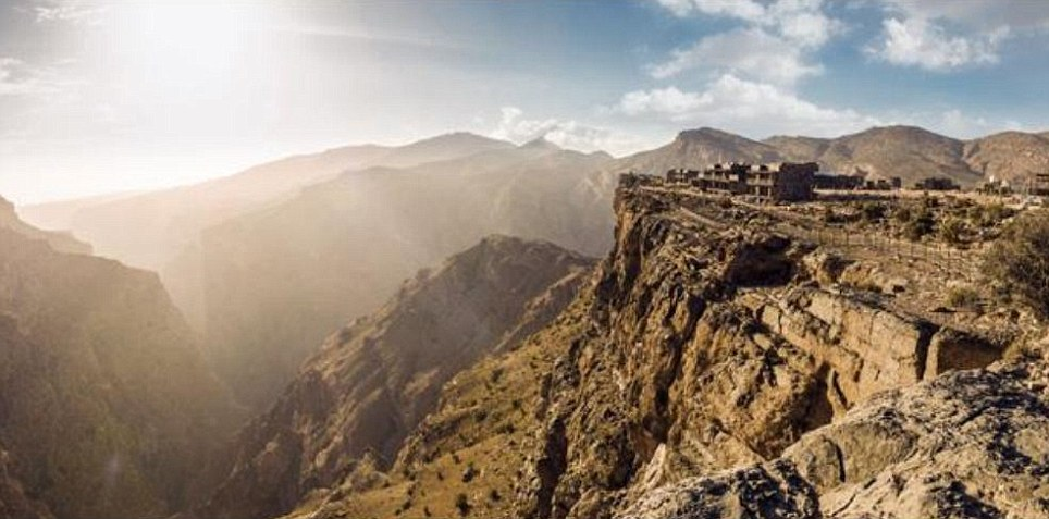 These hotel rooms have the most spectacular view Oman's Al Hajar mountain