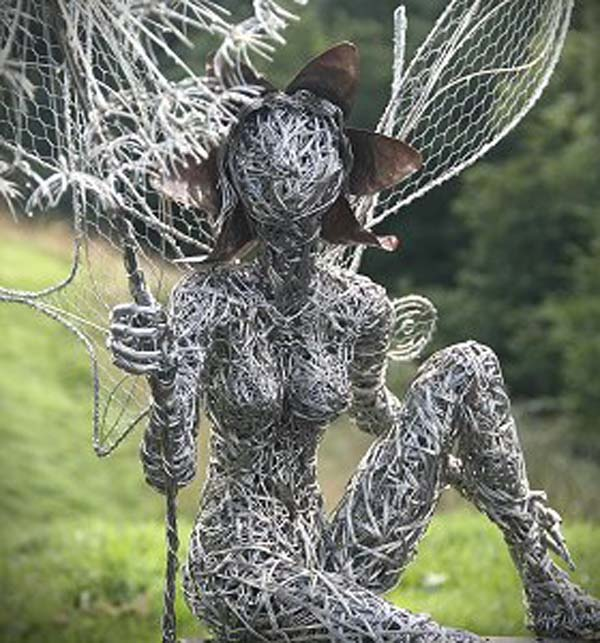 awesome fairy wire sculptures make your garden a magical world