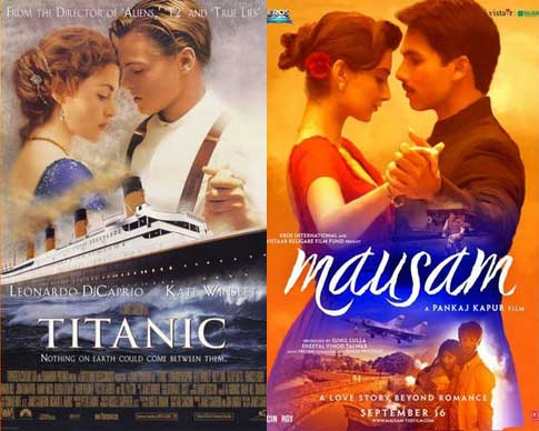 Bollywood movie posters inspired from Hollywood Titanic / Mausam