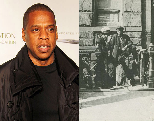 8. Jay Z and an unknown man from Harlem.