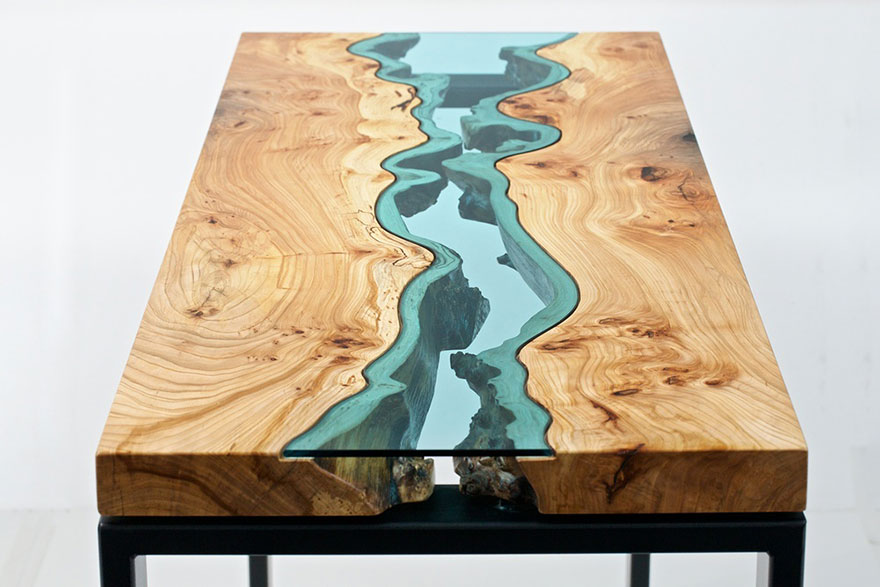 Glass Rivers And Lakes Flow Across Amazing furniture