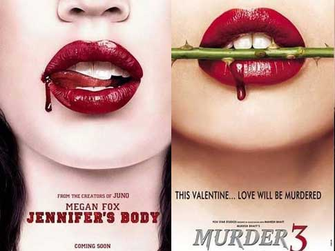Bollywood movie posters inspired from Hollywood Jennifer's Body / Murder 3