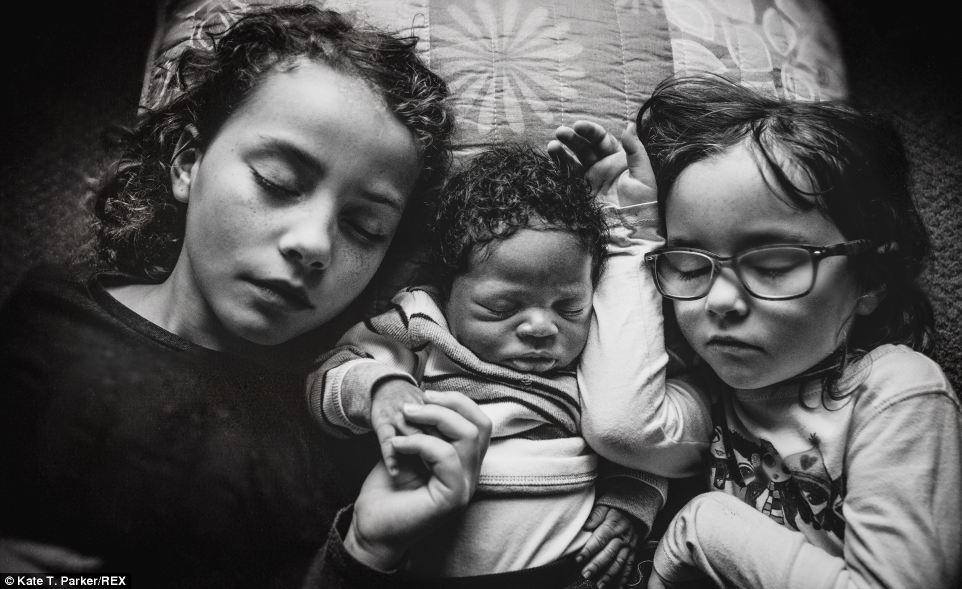 This is heartwarming: photographs of special moments of excitement and growing love when an adopted baby joins the family