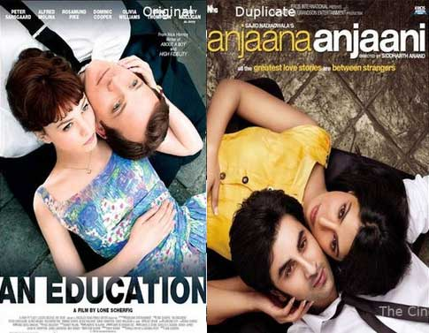 Bollywood movie posters inspired from Hollywood Education / Anjaana Anjaani