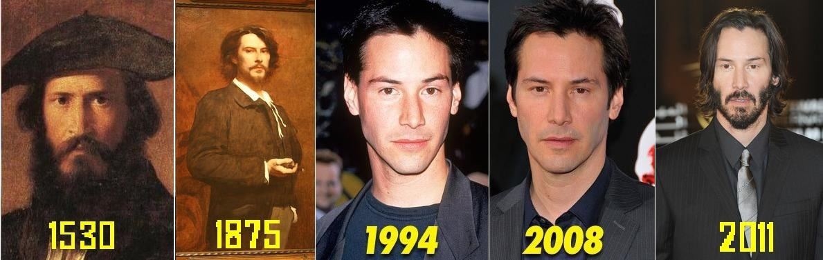 1. Keanu Reeves throughout the ages.