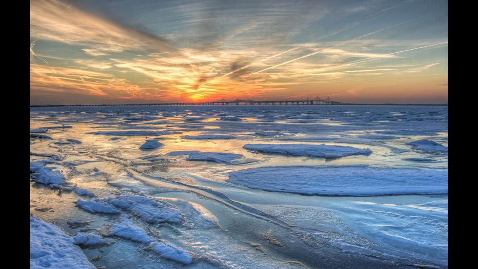 It's amazing out there awesome pictures Frozen Chesapeake Bay