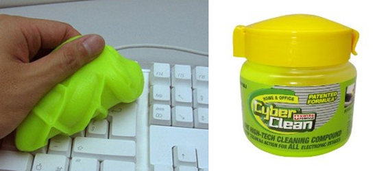 This is genius! These awesome products are so going to make your workday much better! addictive putty that will clean your keyboard and electronics