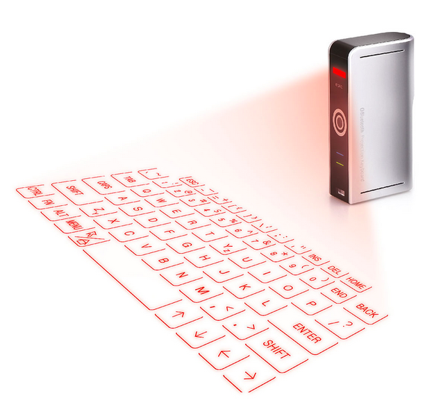 This is genius! These awesome products are so going to make your workday much better! A LASER-PROJECTION KEYBOARD