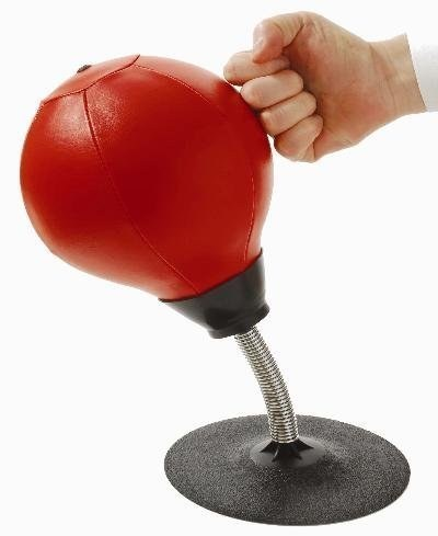 This is genius! These awesome products are so going to make your workday much better! desktop punching bag