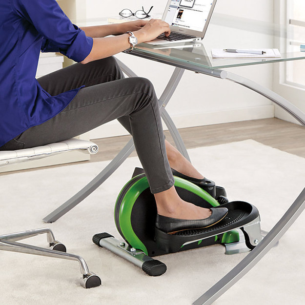 This is genius! These awesome products are so going to make your workday much better! under-the-desk elliptical