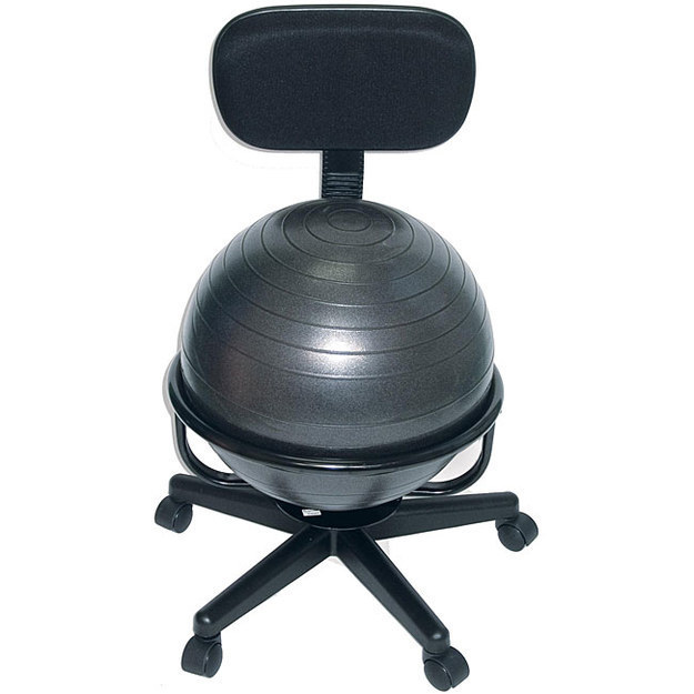 This is genius! These awesome products are so going to make your workday much better! office chair slash exercise ball