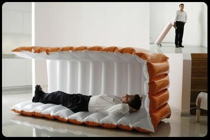 This is genius! These awesome products are so going to make your workday much better! inflatable nap pod