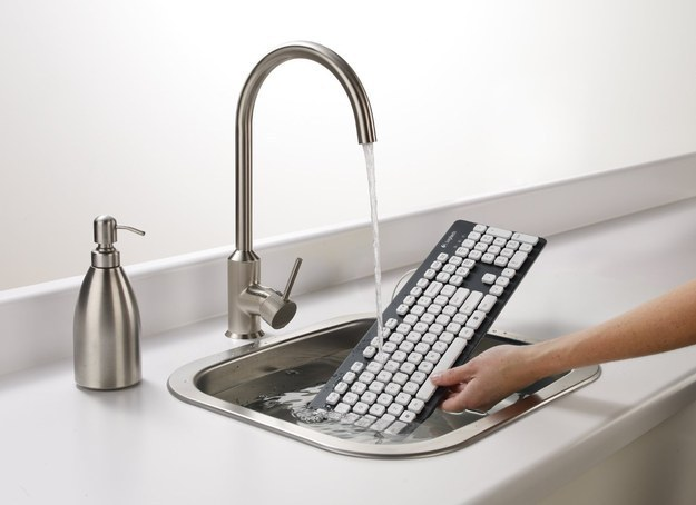 This is genius! These awesome products are so going to make your workday much better! washable keyboard