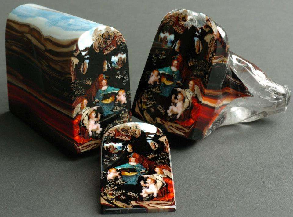 Loaf of Art. Each Color Was Layered to Form the Picture. Apparently Each Slice Sold for $5000.