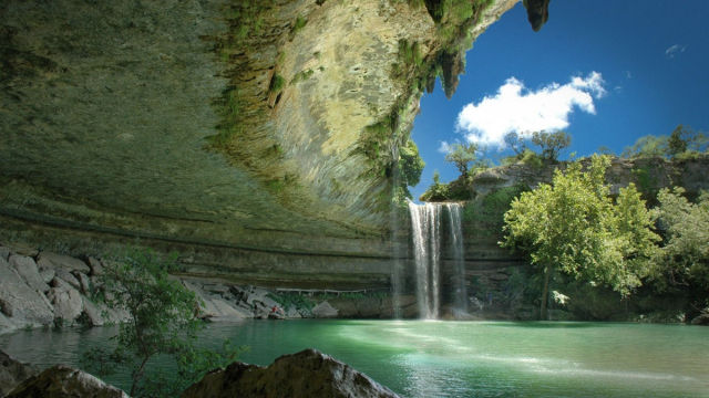 swim places spots pools 15. Hamilton Pool, Austin, Texas