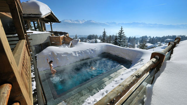 swim places spots pools 17. LeCrans Hotel, Switzerland