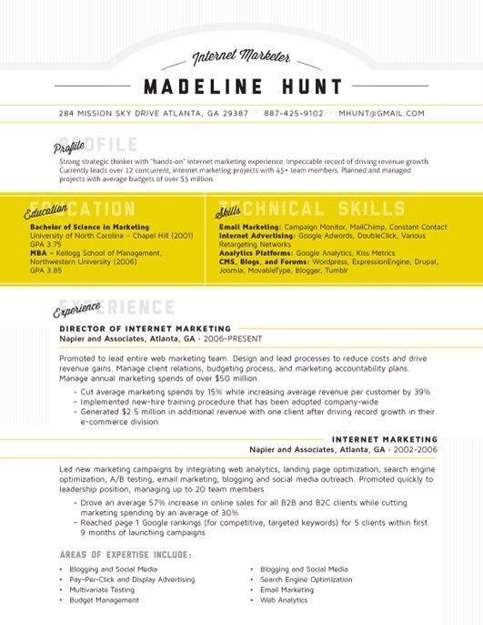 27 wonderful resume designs