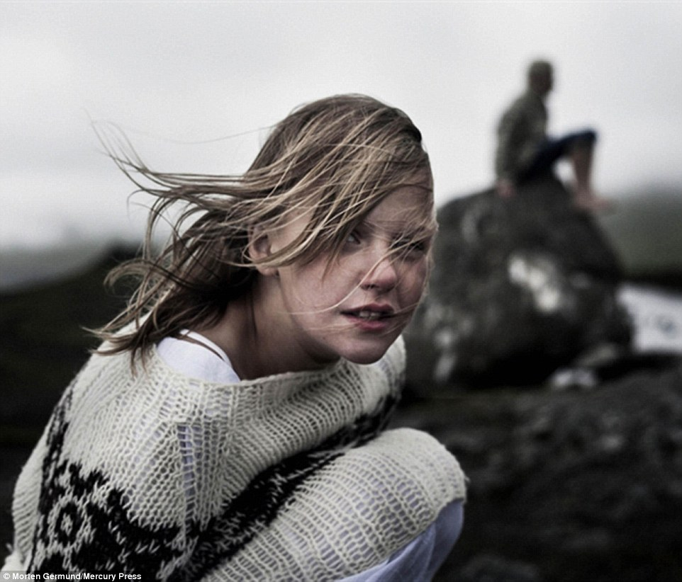 Danish photographer Morten Germund captured this image of a girl wearing a Sarah Lund style woolen jumper for the Faroe Islands advertising campaign
