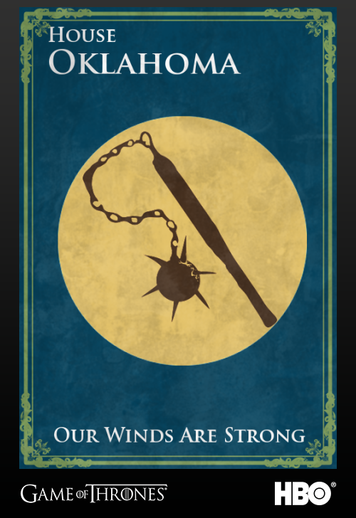 'Game of thrones' fans State Sigils HBO's website Oklahoma