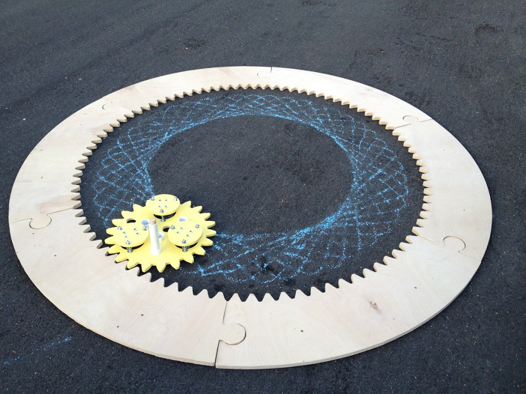 DIY Giant Spirograph – 8 Feet in Diameter