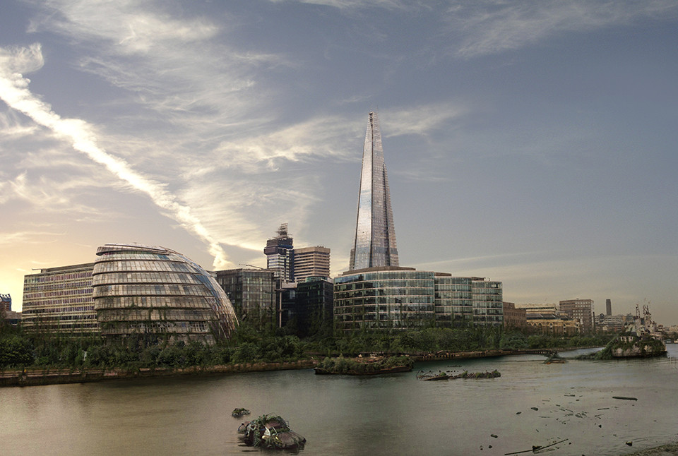 The last of us: apocalyptic pictures of the end of the world The shard and City Hall